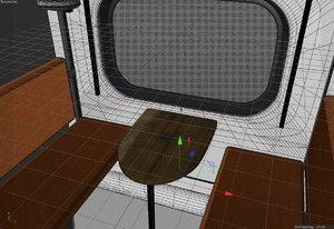 3D railway car compartment