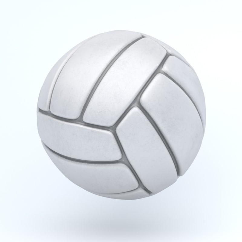 3D icon ball voley