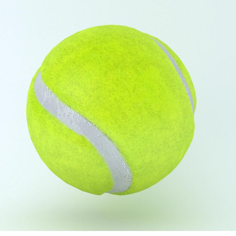 icon ball tennis 3D model