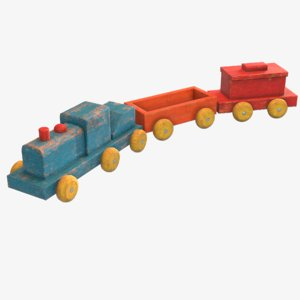 old toy train model