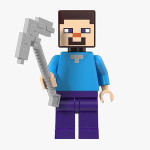 lego minecraft steve model
