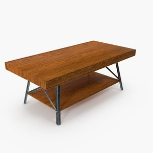 rugged coffee table 3D