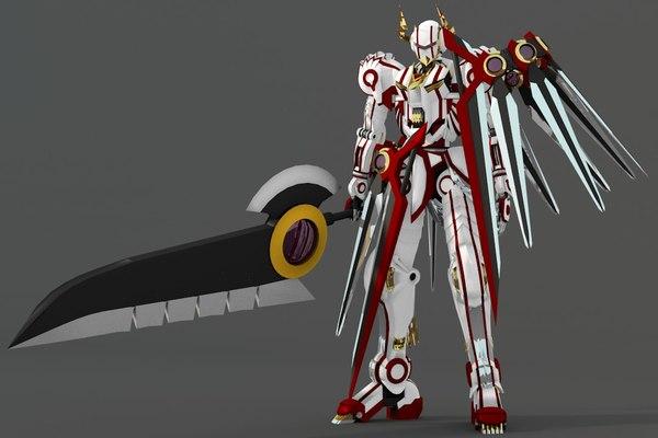3D devil weapon model