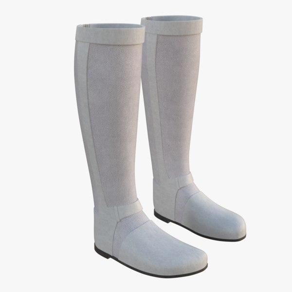 riding boots 2 3D model