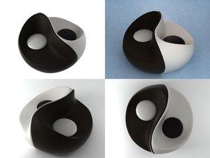3D yin yang chiase lounge