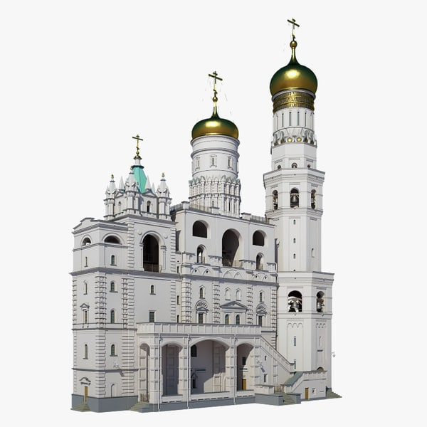 russian ivan great belltower 3D model