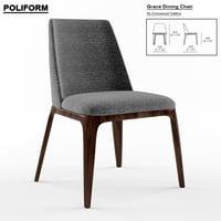 3D grace chair poliform