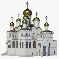 3D russian annuciation cathedral