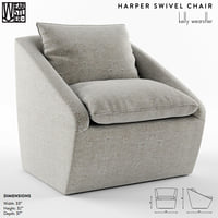harper swivel chair kelly 3D model