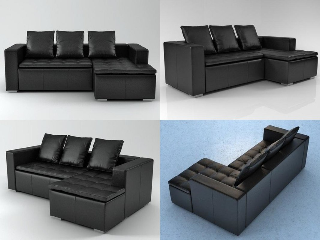 mezzo sofa 3d model turbosquid 1181818. Black Bedroom Furniture Sets. Home Design Ideas
