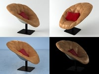 bohemian armchair 3D