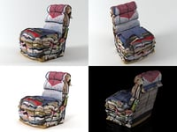3D model rag chair