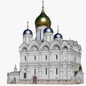 russian archangel cathedral model