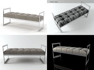 3D model barcelona bench