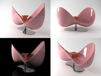 3D loveseat