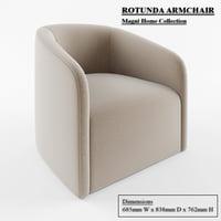 rotunda chair armchair 3D model