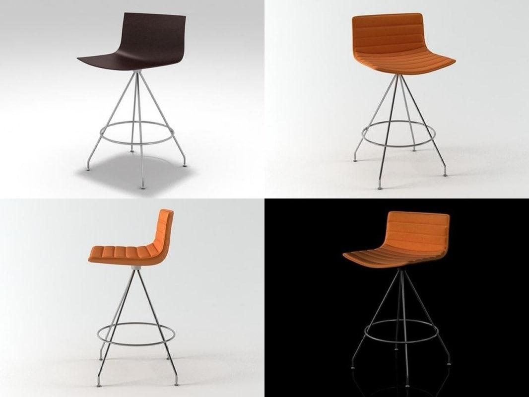 catifa 46 stool swivel 3D model