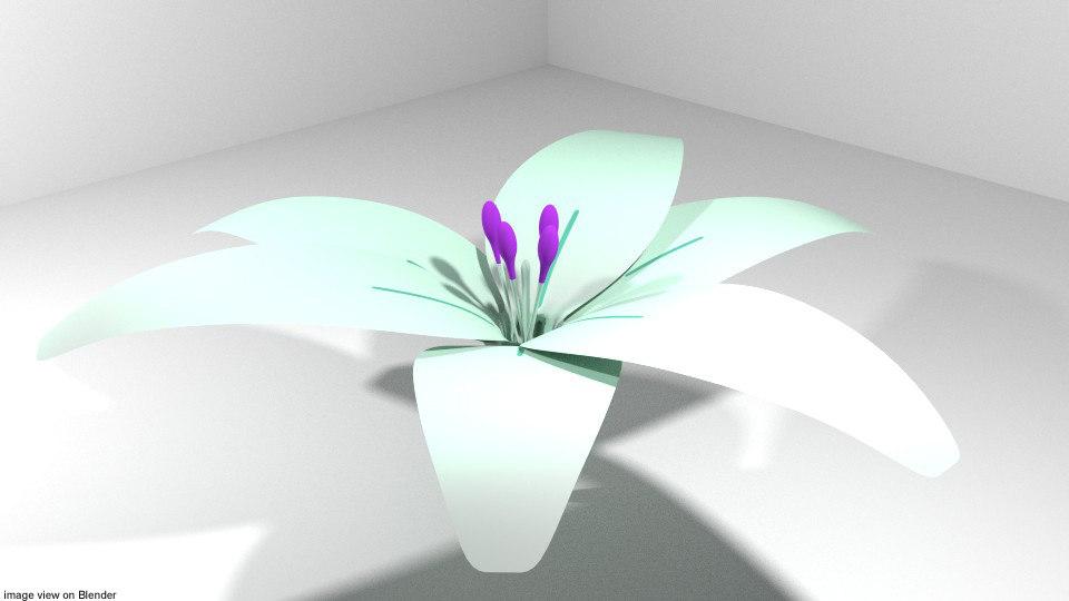 3D model flower lily