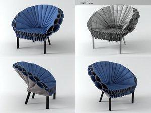 3D peacock cappellini