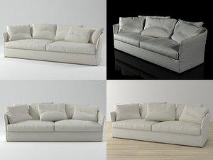 3D curve sofa