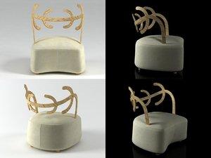 3D antler cappellini model