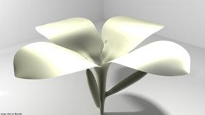 3D flower frangipani