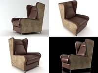 3D pochette armchair model