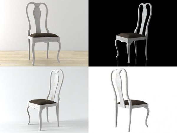 3D model country chic chair