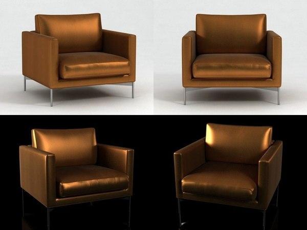 divina standard lounge chair 3D