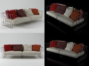 hoop sofa 240 3D model