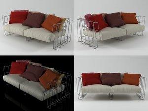 3D hoop sofa 200