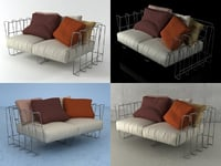 hoop sofa 160 3D model