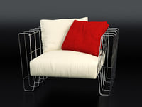 3D hoop armchair model