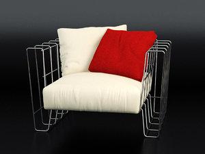 3D hoop armchair model