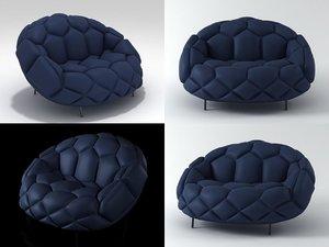 quilt armchair 3D model