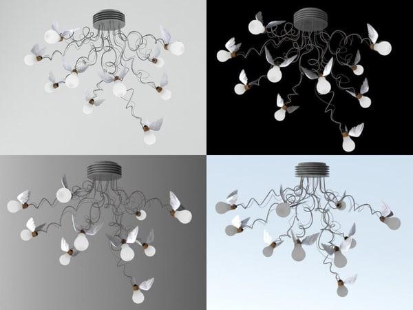 3D birdie s nest model