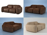 3D model piumotto08 sofa194