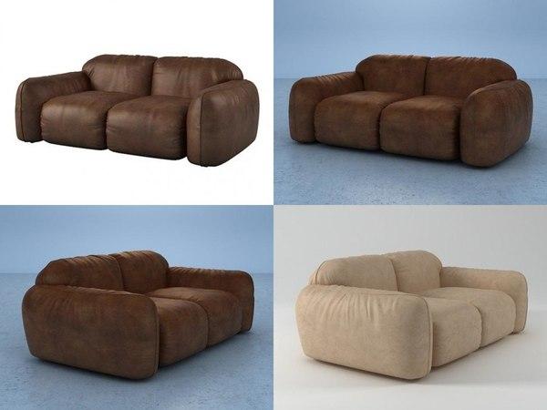 3D model piumotto08 sofa194