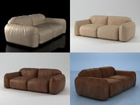 piumotto08 sofa220 3D model