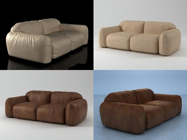 piumotto08 sofa220 3D model