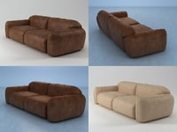 piumotto08 sofa260 3D model