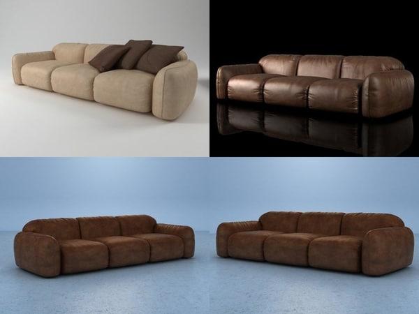piumotto08 sofa295 3D