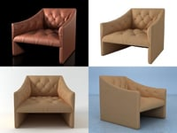 3D burnham armchair model