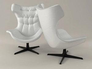 regina ii armchair 3D model