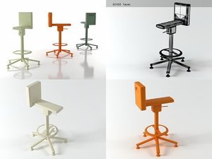 3D model 360° stool