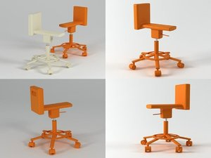 3D 360° chair
