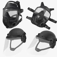 3D police helmets