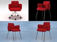 moorea armchair 3D model