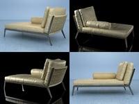 3D model happy hour chaiselongue
