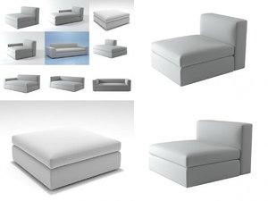 3D dune sofa